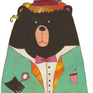 """Bear from """"Schnorchelnde Schafe"""" (Kunstanstifter Verlag)"""