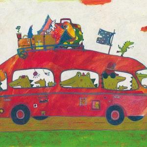 """Krokodiles from """"Schnorchelnde Schafe"""" (Kunstanstifter Verlag)"""